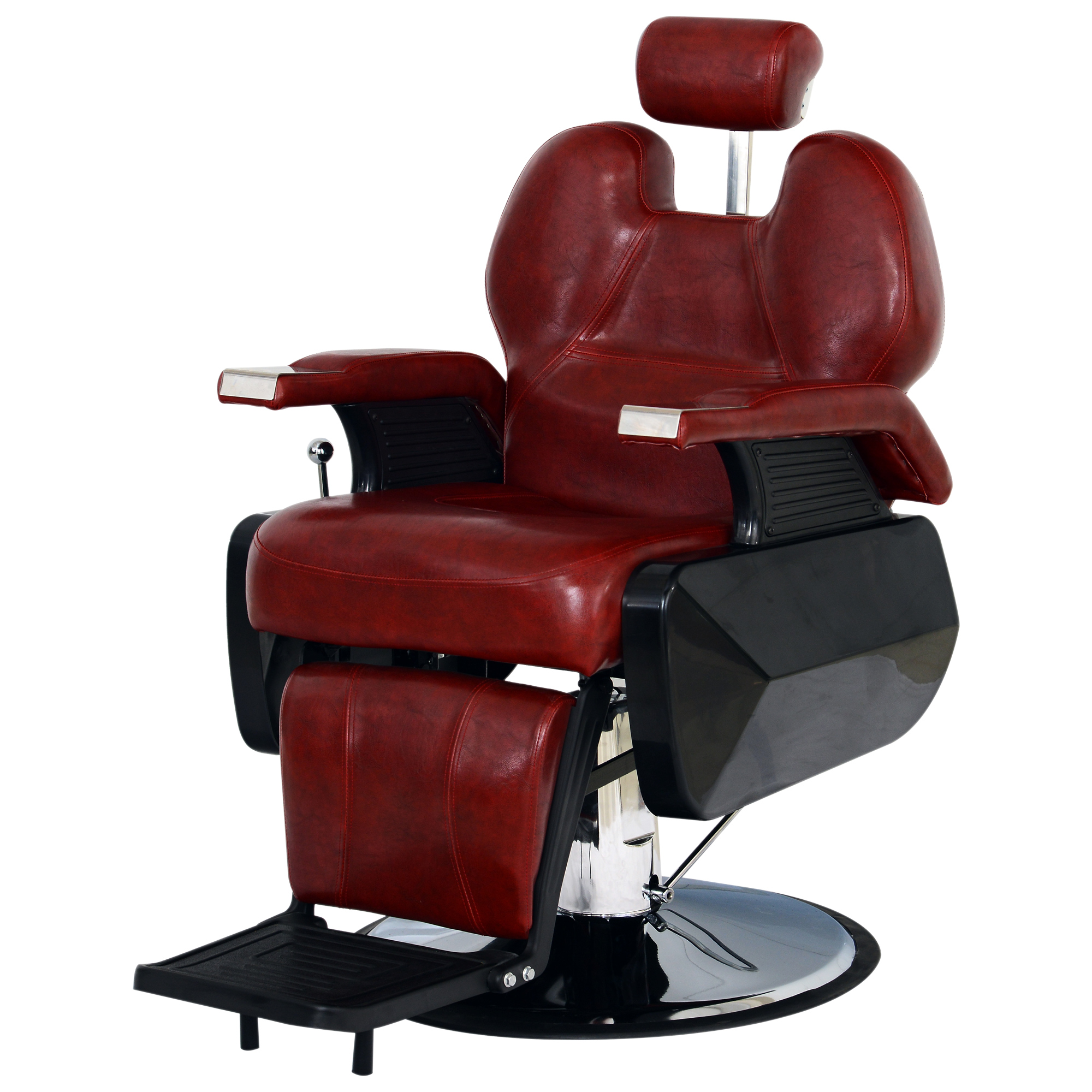 Red Barber Chair Barberpub All Purpose Hydraulic Recline Salon Beauty Spa Styling Barber Chair Burgundy