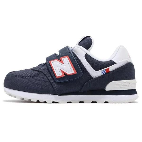 【YV574SOP】NEW BALANCE NB574 中童鞋 運動鞋 黏帶 WIDE 海軍藍白紅帆布   鞋殿 - Rakuten樂天市場