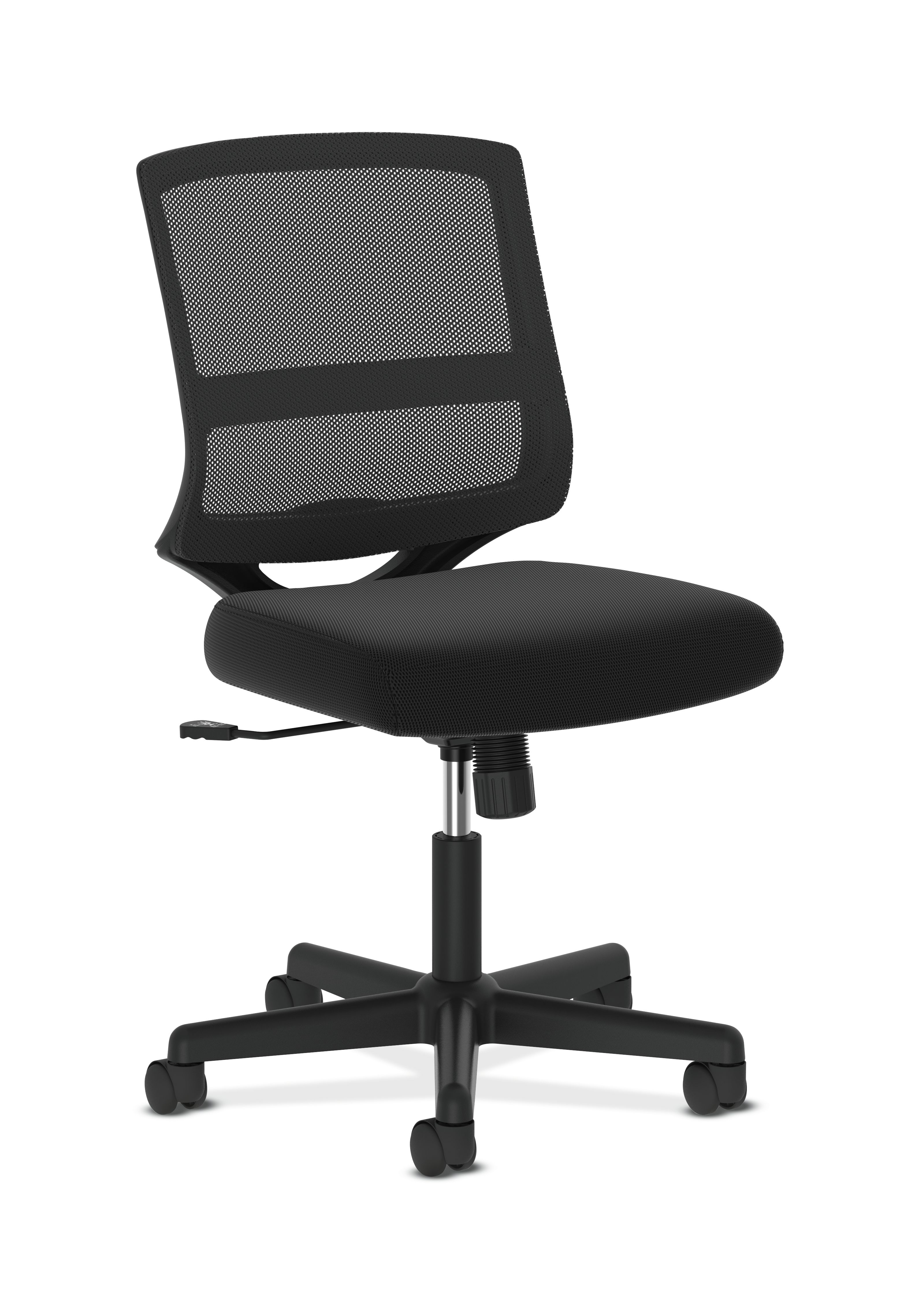 mesh task chair gray recliner office essentials hon valutask mid back armless black computer hvl206