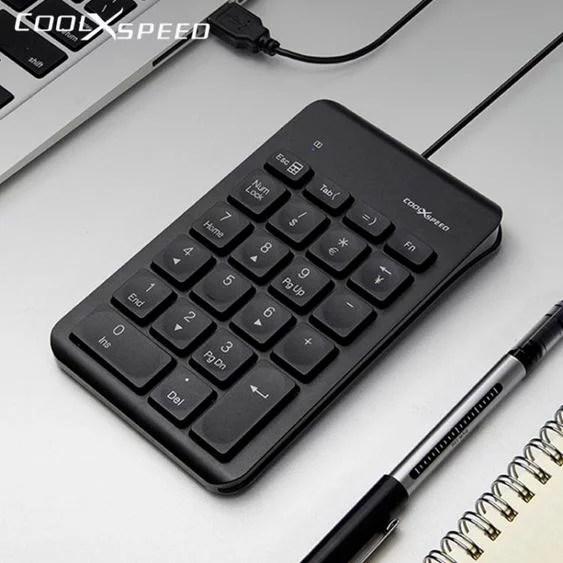 數字鍵盤COOLXSPEED數字鍵盤電腦小鍵盤無線有線機械手提筆記本外接臺式小型迷你   摩可美家 - Rakuten樂天市場