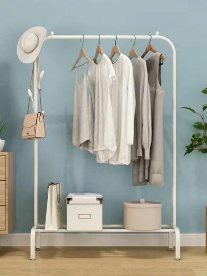 衣帽架晾衣架落地折疊室內單桿式曬衣架臥室掛衣架家用簡易涼衣服的架子JD   曼莎時尚 - Rakuten樂天市場