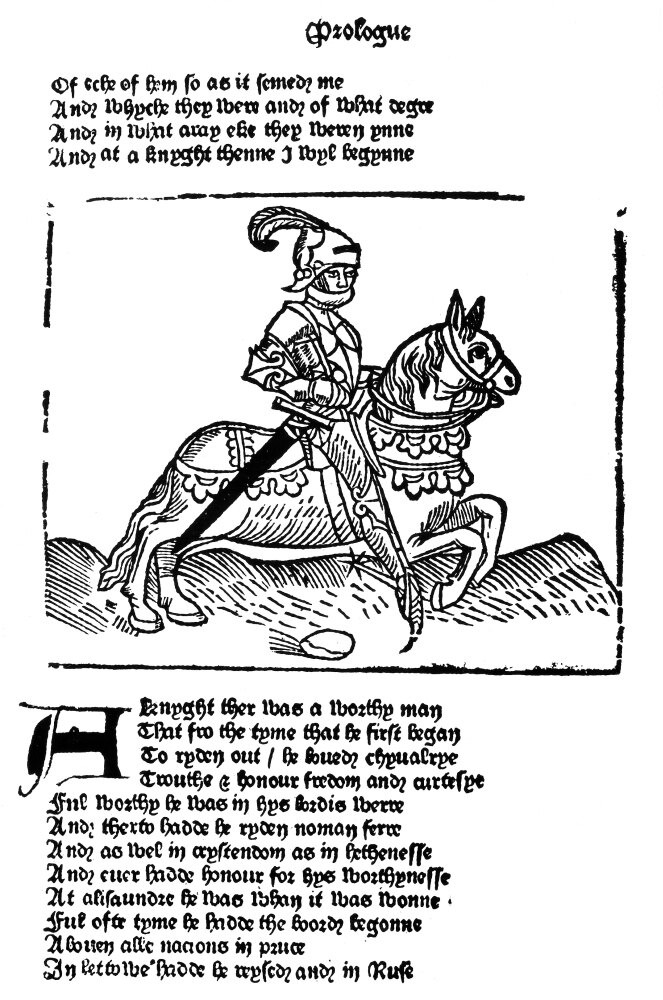 Posterazzi: Prologue The Knight Nwoodcut From The Prologue
