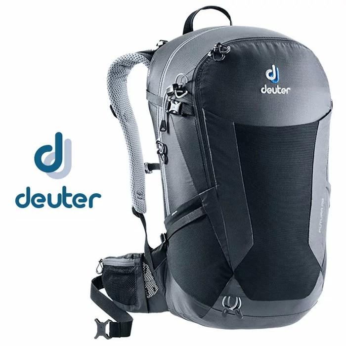 【Deuter 德國】Futura 28 網架透氣背包 旅行後背包 健行背包 單車背包 黑色〈容量28L〉(3400518) | 鄉野情戶外休閒 ...