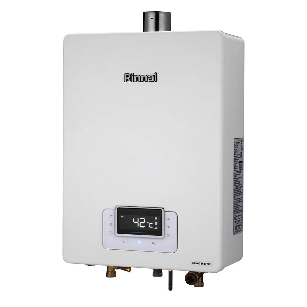 林內 Rinnai 16公升強制排氣熱水器 RUA-C1630WF   雅光電器商城 - Rakuten樂天市場