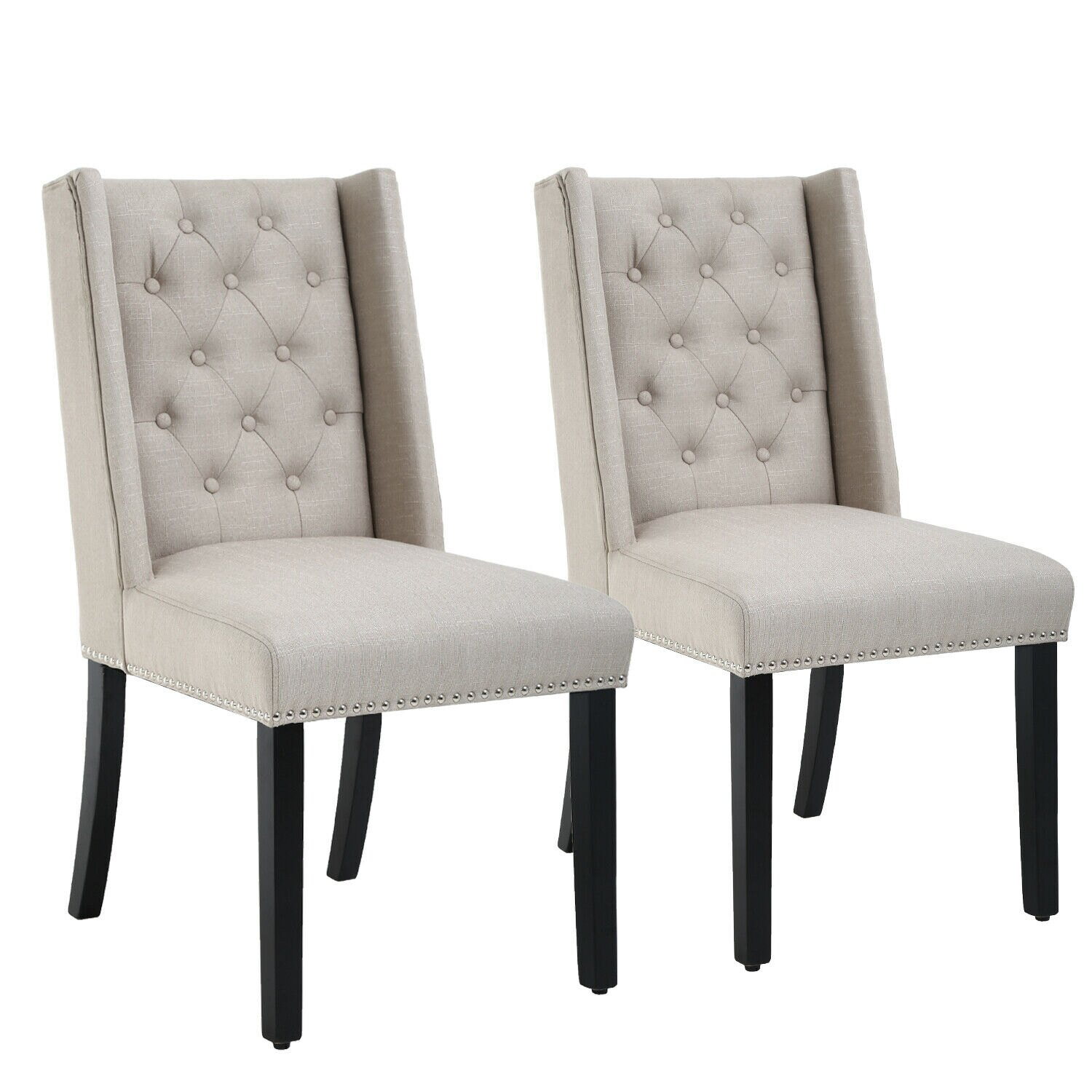 Dining Chairs Set Of 2 Dining Room Chairs Mid Century Modern Chair Upholstered