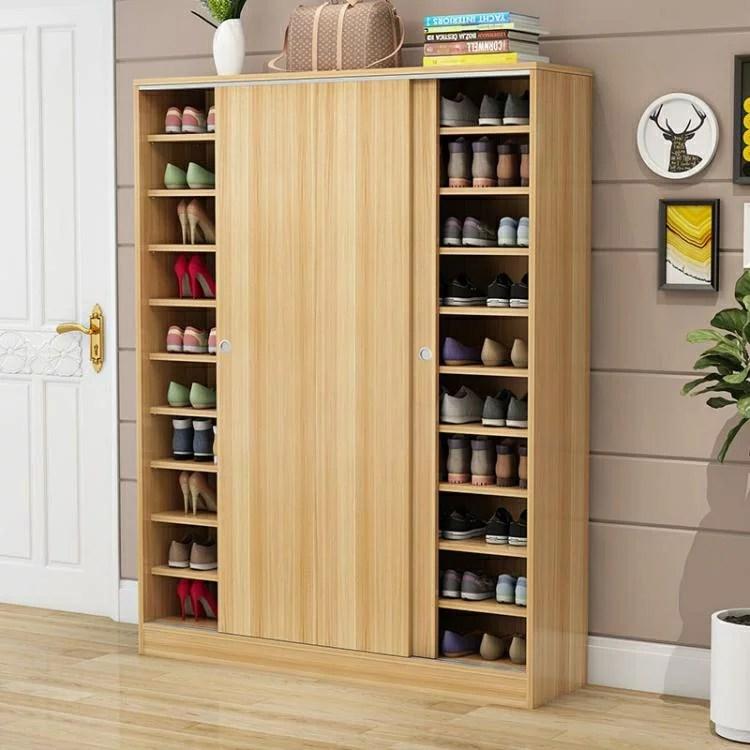 鞋櫃實木質多功能多層簡易玄關櫃經濟型推拉門組裝家用鞋架大容量 概念3C   概念3C旗艦館 - Rakuten樂天市場
