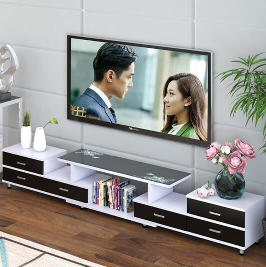 電視櫃茶幾簡約現代客廳組合北歐臥室簡易電視機櫃小戶型伸縮地櫃 | DW電玩大咖 - Rakuten樂天市場