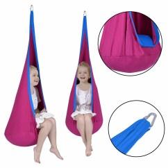 Hanging Kids Chair Sponge Cushion Costway Child Pod Swing Tent Nook Indoor Outdoor Seat Hammock 0