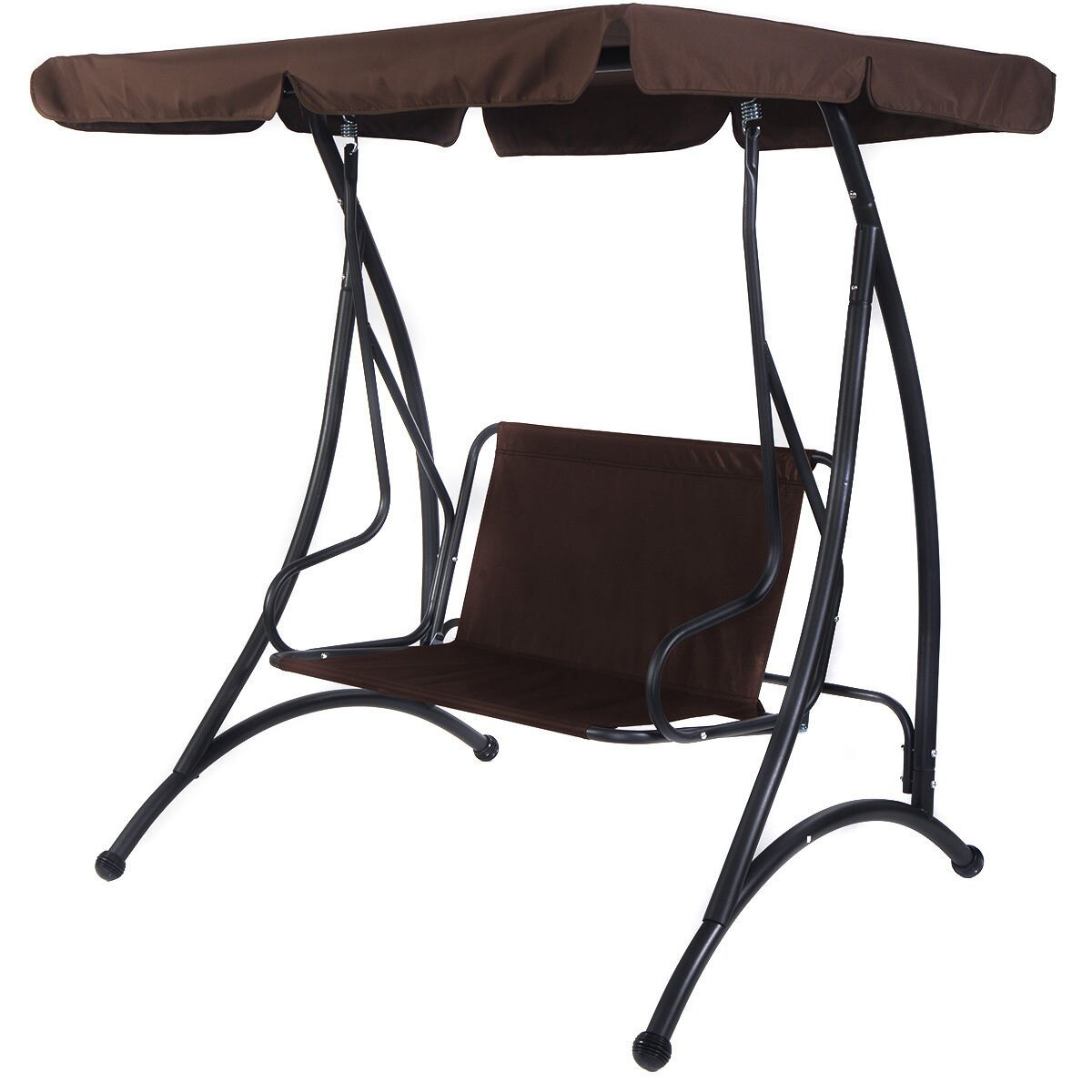 swing chair seat pink swivel desk costway brown 2 person canopy patio hammock cushioned furniture steel