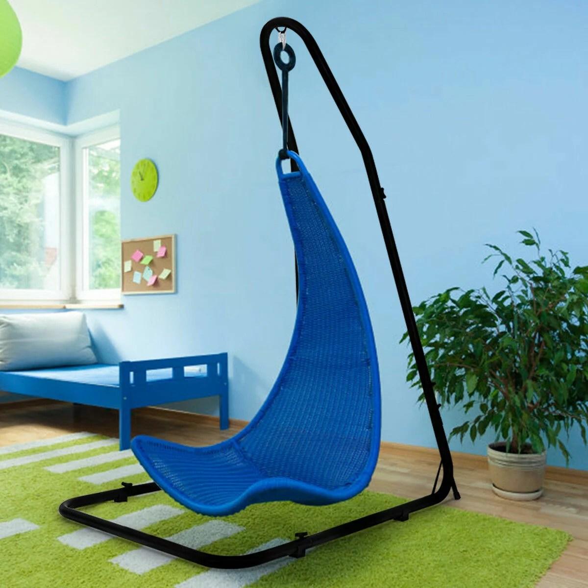 hammock chair stand adjustable 2017 lexus gx captains chairs costway for hammocks swings hanging steel frame 4