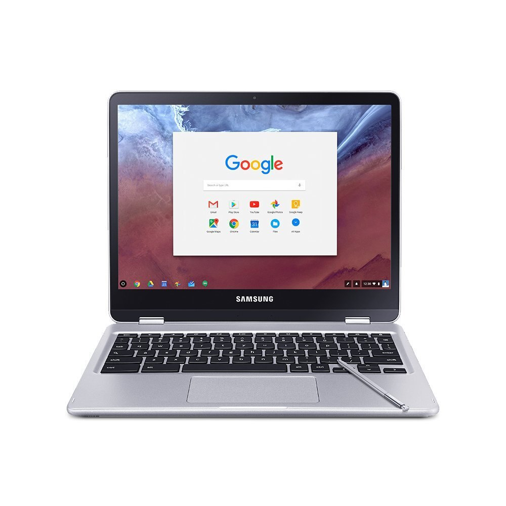 "Samsung 12.3"" Chromebook Plus Touch Screen 4GB 32GB eMMC XE513C24-K01US - Silver 0"