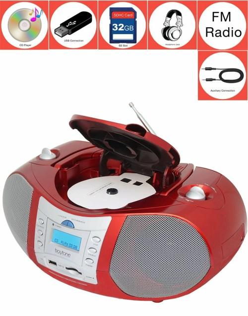 small resolution of boytone bt 6r boombox cd player usb sd mmc slot fm radio auxiliary