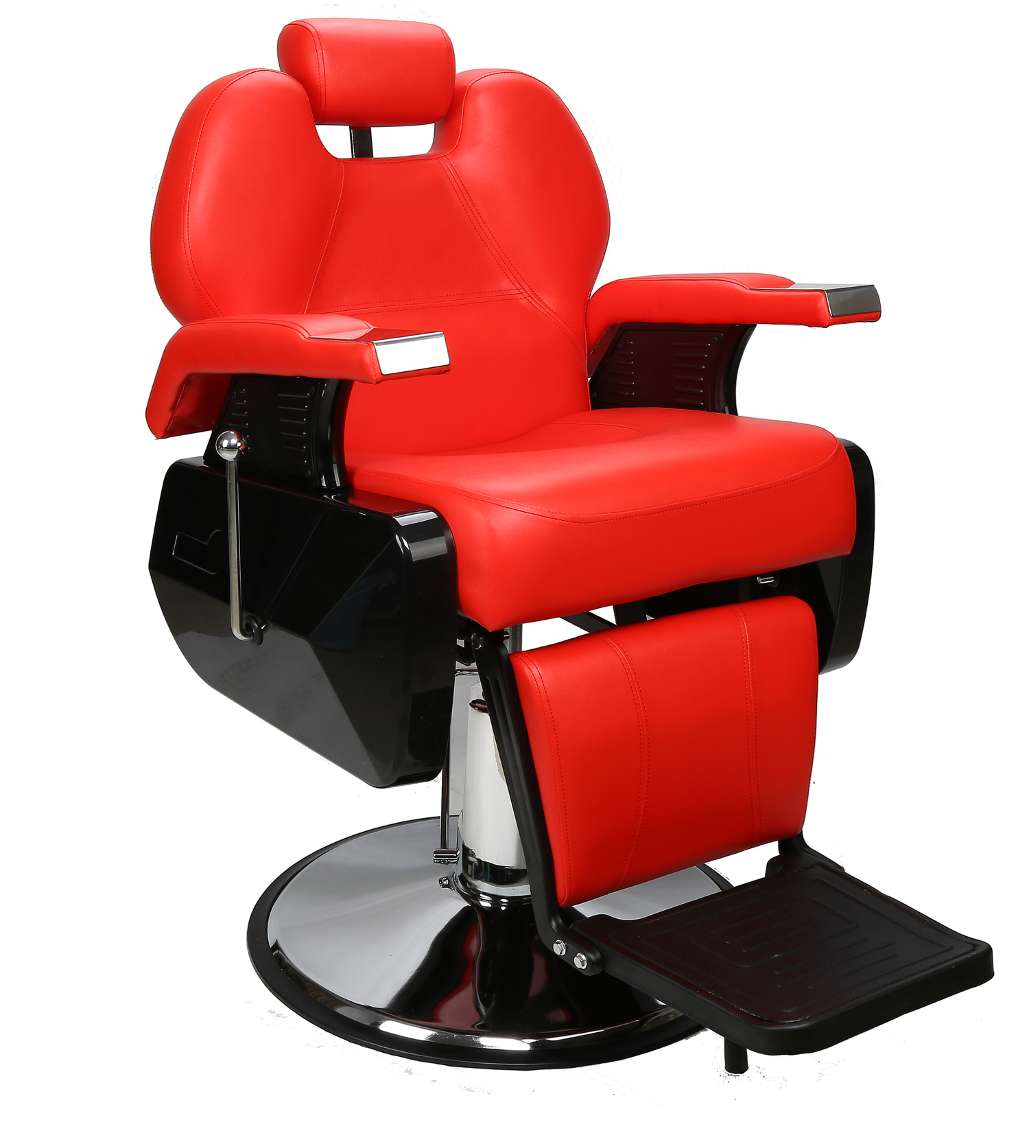 Red Barber Chair Barberpub All Purpose Hydraulic Recline Salon Beauty Spa Styling Barber Chair Red
