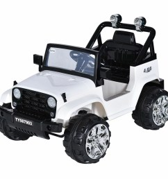 costway 12v kids ride on truck jeep car rc remote control w led lights music [ 1200 x 1200 Pixel ]