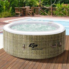 Inflatable Bubble Sofa Uk White Covers 2 Person Hot Tub Table Ideas