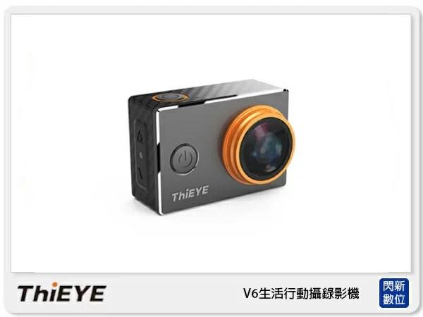 【大力推薦】ThiEYE V6 多功能運動攝影機 4K 60M防水 防塵 防震 行車紀錄器(公司貨)