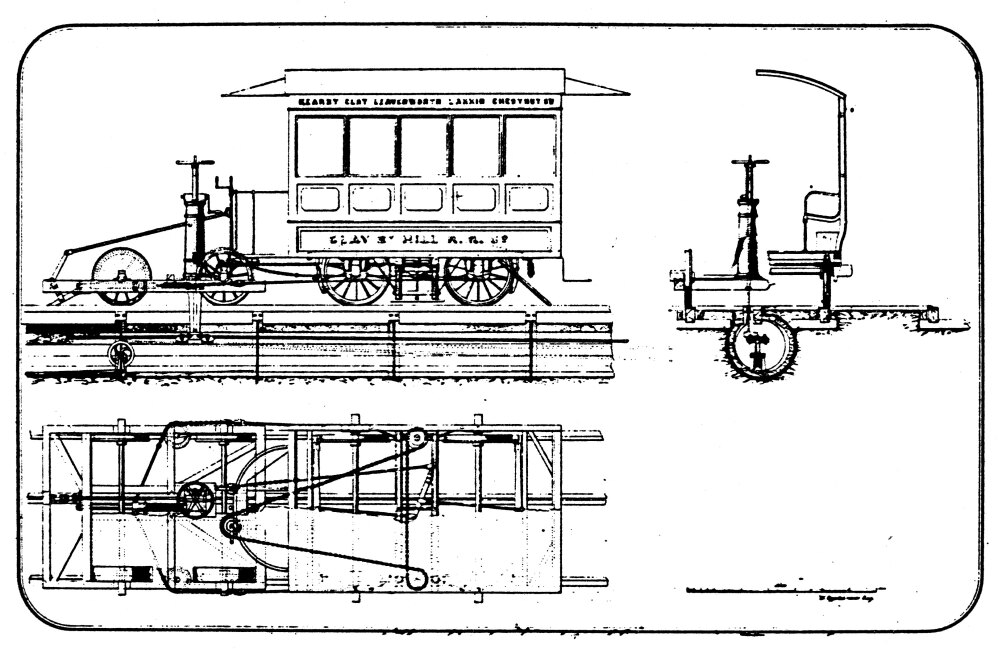 Posterazzi: Cable Car Patent 1873 Noriginal Patent Drawing