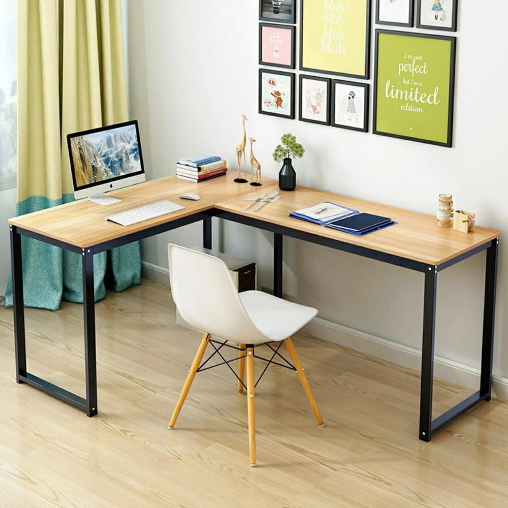 臺式電腦桌現代簡約轉角桌家用簡易臺式辦公桌子雙人寫字臺書桌xw - 臺灣樂天市場 - LINE購物