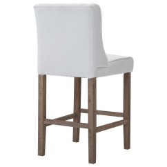 Tufted Wingback Dining Chair Plastic Adirondack Chairs Australia Aosom Homcom 40 Quot Counter Height Armless