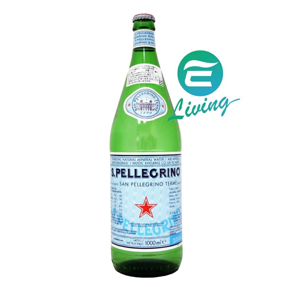 S.Pellegrino 氣泡水 (1000ml)-玻璃瓶 #18602 - 易生活ELiving | Rakuten樂天市場