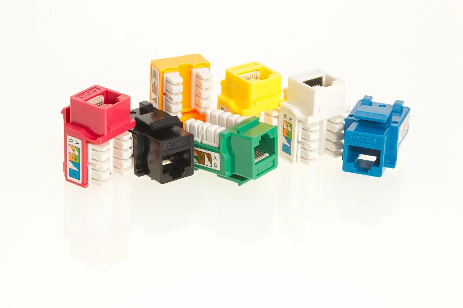 hight resolution of keystone jack cat5e network ethernet 8p8c rj45 110 punchdown lot pack cat5 plug 0