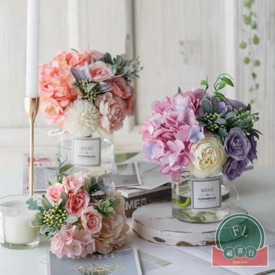 仿真花花擺花藝裝飾花束擺件北歐絹花假花 | 優貨巴士 - Rakuten樂天市場