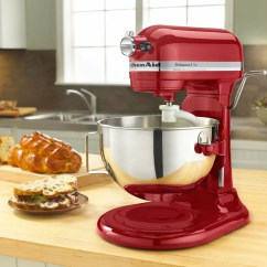 Kitchen Aid 5 Qt Mixer Utility Knife Usa World Sales Kitchenaid Rkv25goxer Professional Plus Quart Stand Empire Red Certified Refurbished