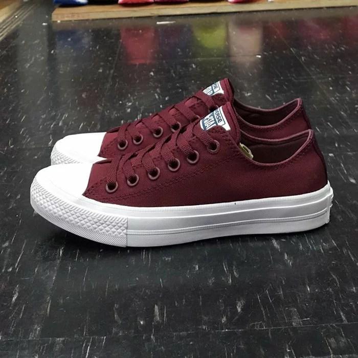 Converse Chuck Taylor All Star II 2代 低筒 酒紅 帆布 LUNARLON 鞋墊 150150C   The One Shop 潮流鞋鋪 Keds 萬年店 - Rakuten樂天市場