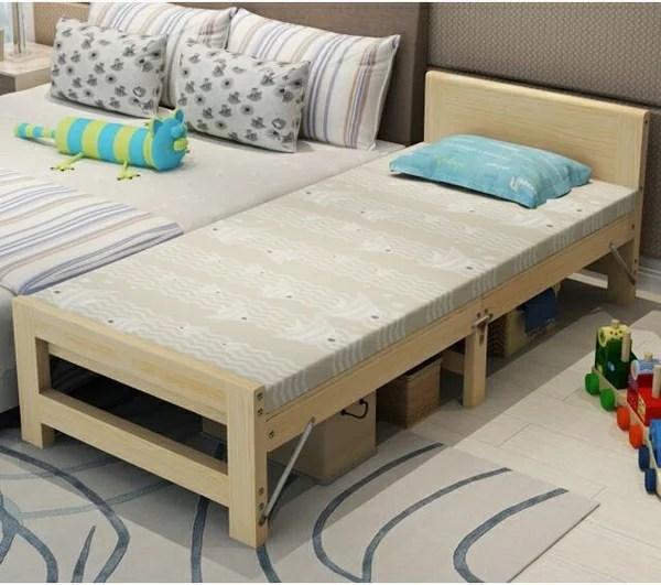 實木兒童床 折疊拼接床加寬床加長實木床鬆木床架兒童床可定做床邊床   天天特賣工廠店 - Rakuten樂天市場