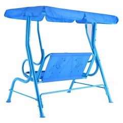 Kids Chair With Canopy Kitchen Slipcovers Costway Patio Swing Children Porch