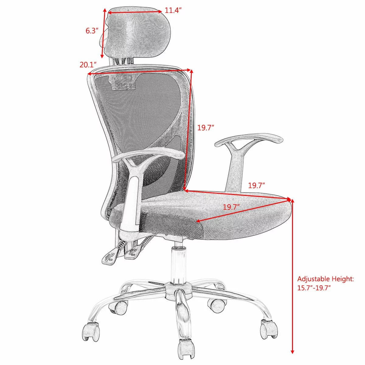 staples ergonomic mesh executive chair with headrest table and 10 chairs costway high back office