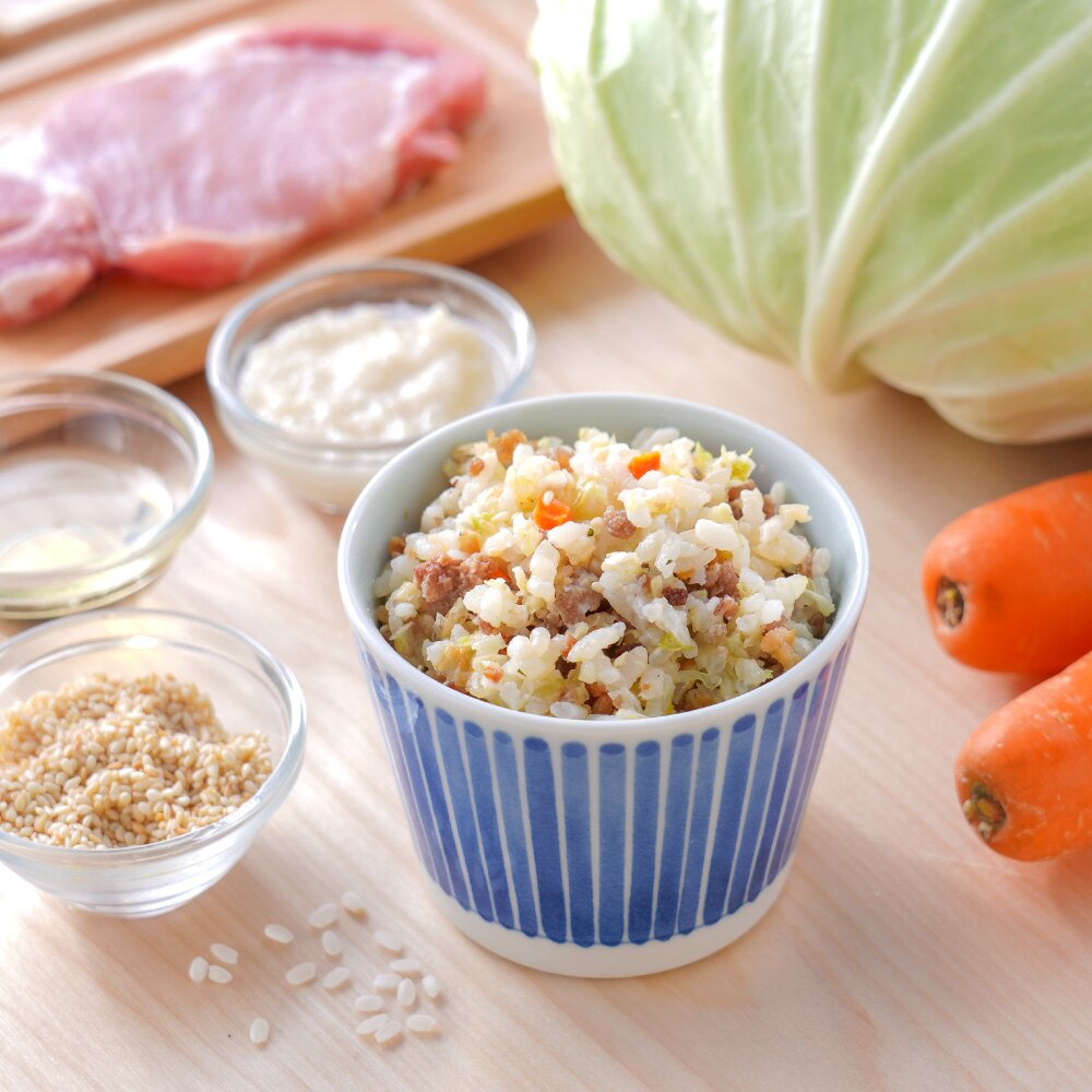 【淘氣寶寶】臺灣製 芽米寶貝 G010 高麗菜豬肉鹽麴炊飯 (每份150克x2盒)   淘氣寶寶 - Rakuten樂天市場