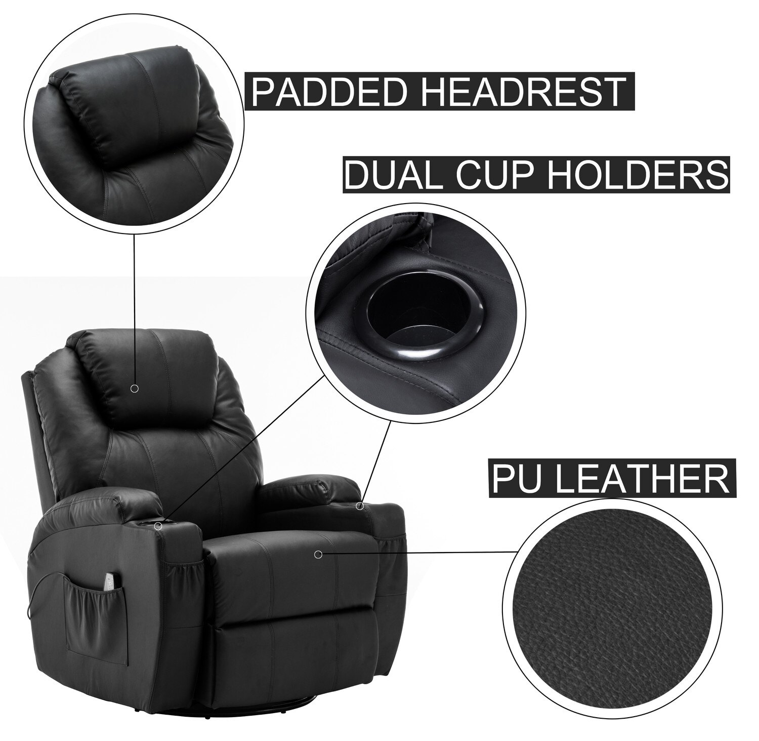 baby swing vibrating chair combo office kogan mcombo modern massage recliner sofa