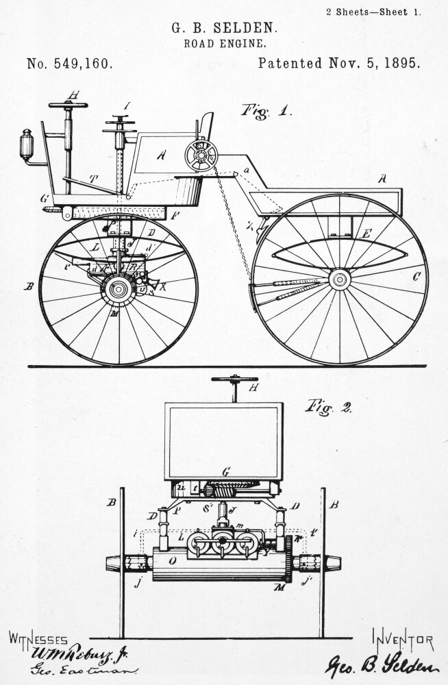 Posterazzi: Selden Road Engine 1895 Nthe First Patent Ever