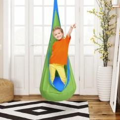Hanging Kids Chair Art Deco Costway Child Pod Swing Tent Nook Indoor Outdoor Seat Hammock 2