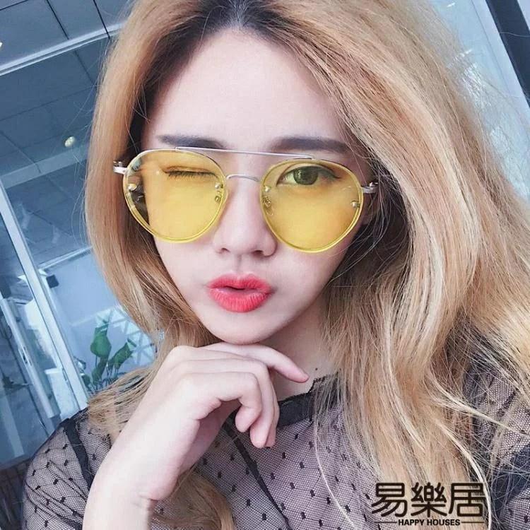 韓國夜視鏡黃色個性透明太陽眼鏡   鴻途精品商行 - Rakuten樂天市場