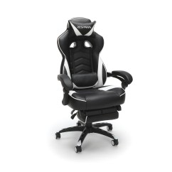 Reclining Gaming Chair Faux Leather Gripper Cushions Office Essentials Respawn 110 Racing Style Ergonomic With Footrest