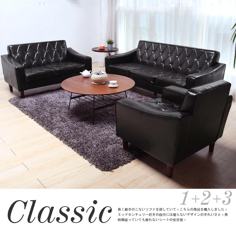 【網路購物】 Classic摩登復古1+2+3沙發組 / H&D / 日本MODERN DECO哪裡買