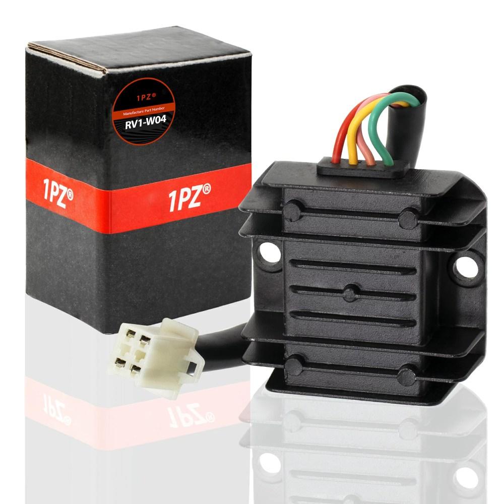 medium resolution of 1pz rv1 w04 4 wire 12v voltage regulator for cg 125cc 200cc 250cc and gy6