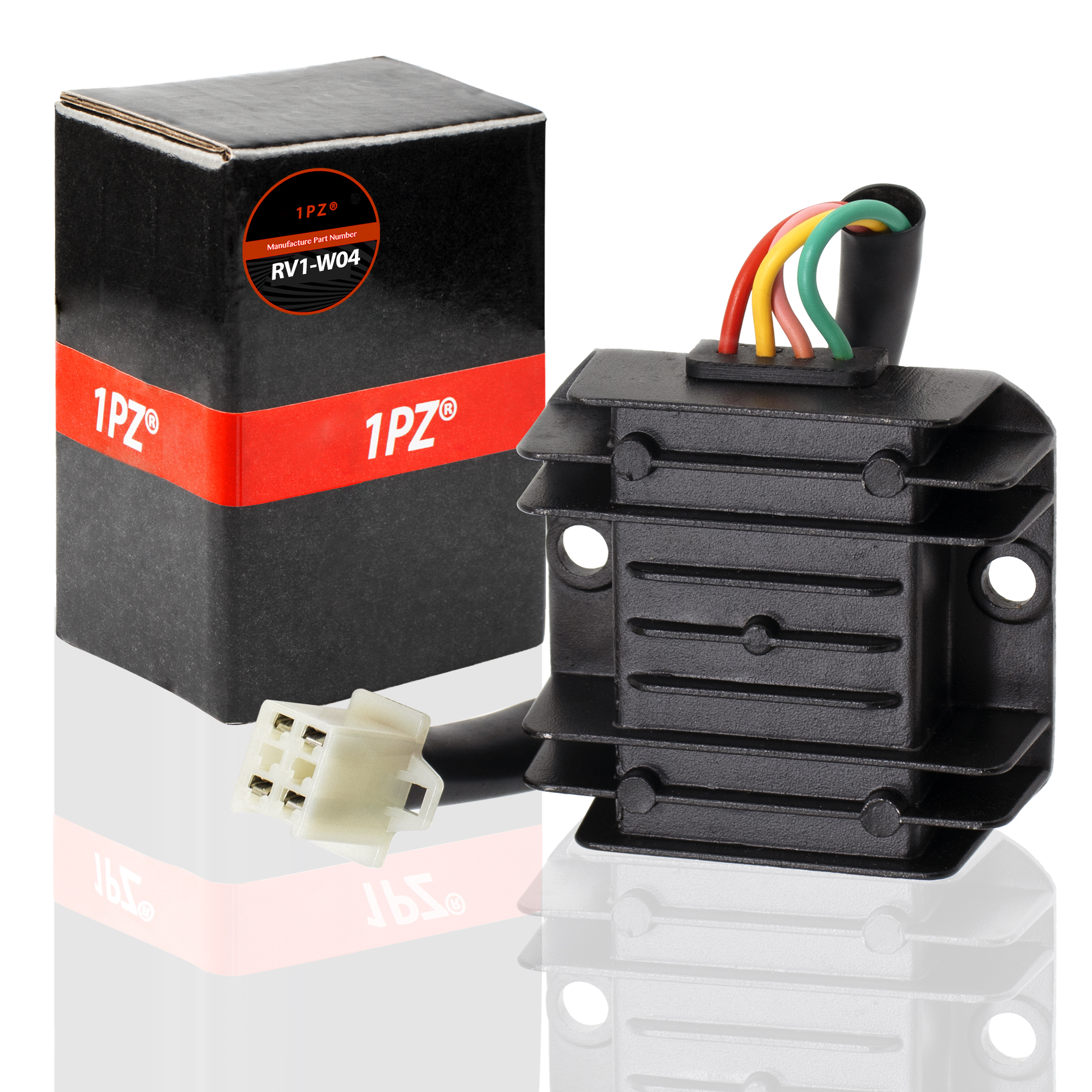 hight resolution of 1pz rv1 w04 4 wire 12v voltage regulator for cg 125cc 200cc 250cc and gy6