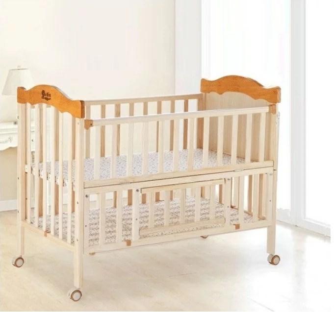 嬰兒床 加大嬰兒床 實木嬰兒床 小床 大床 附蚊帳(單大床不含小床) | 快樂奶爸 - Rakuten樂天市場