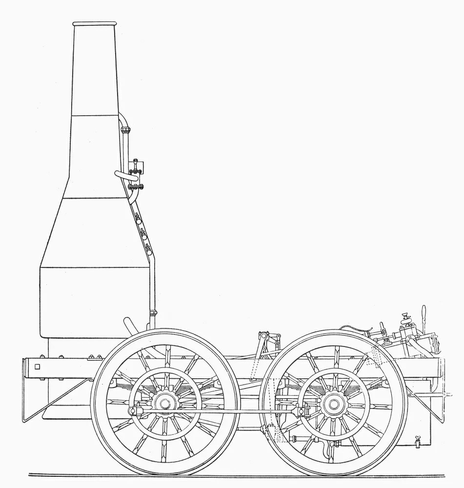 Posterazzi: Locomotive 1830 Nschematic Drawing Of The Best