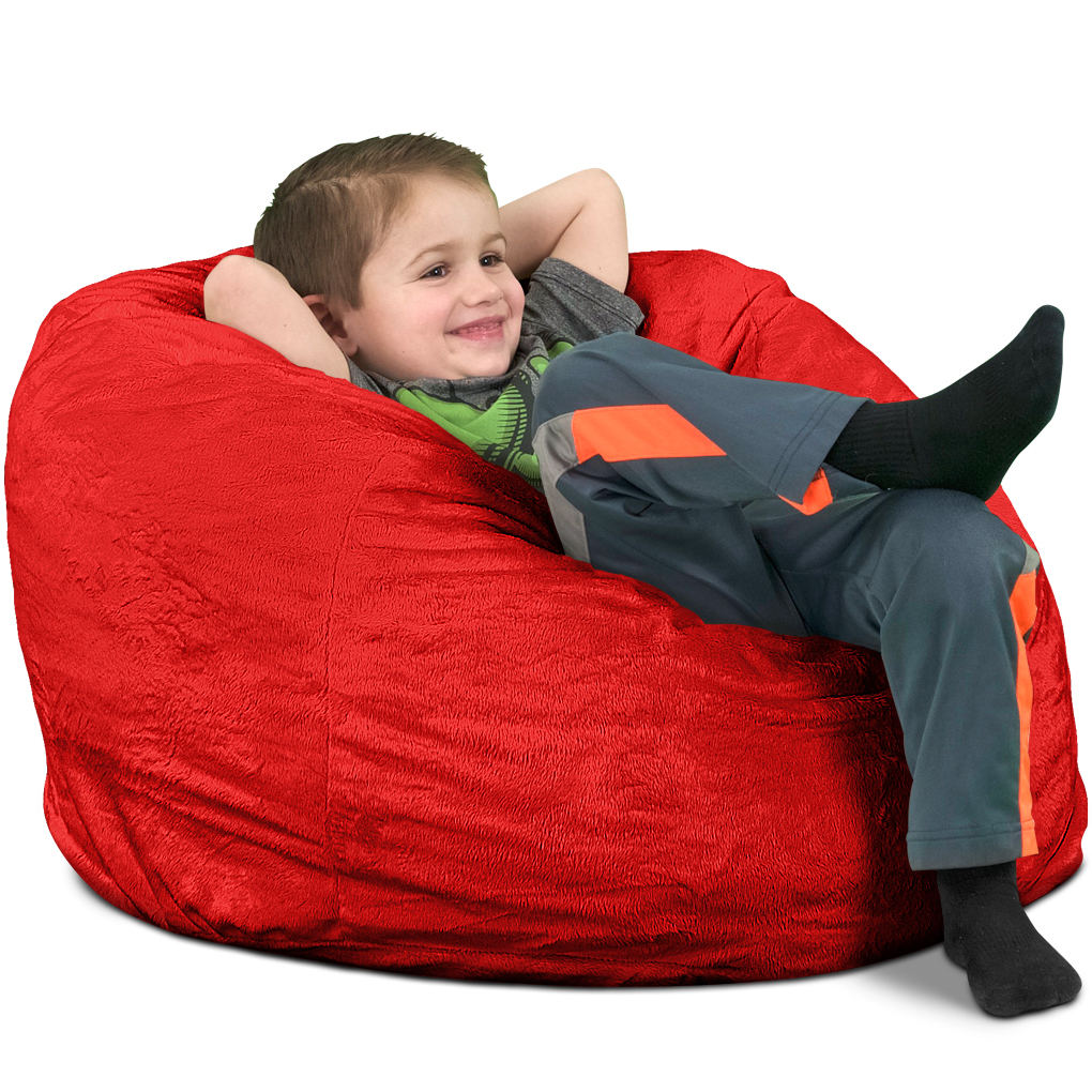 Giant Pillow Chair Ultimate Sack Kids Bean Bag Chairs In Multiple Materials And Colors Giant Foam Filled Furniture Machine Washable Covers Double Stitched Seams