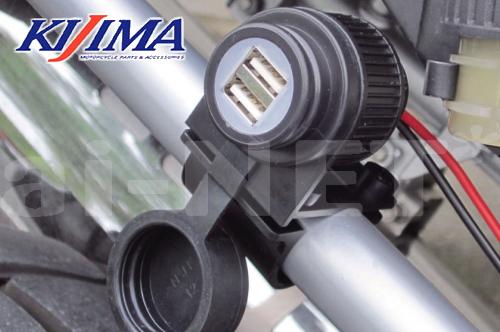 KIJIMA/キジマ製USBTWINPORTKITUSBポートキットツイン【304-6221】防水USBチャージャー