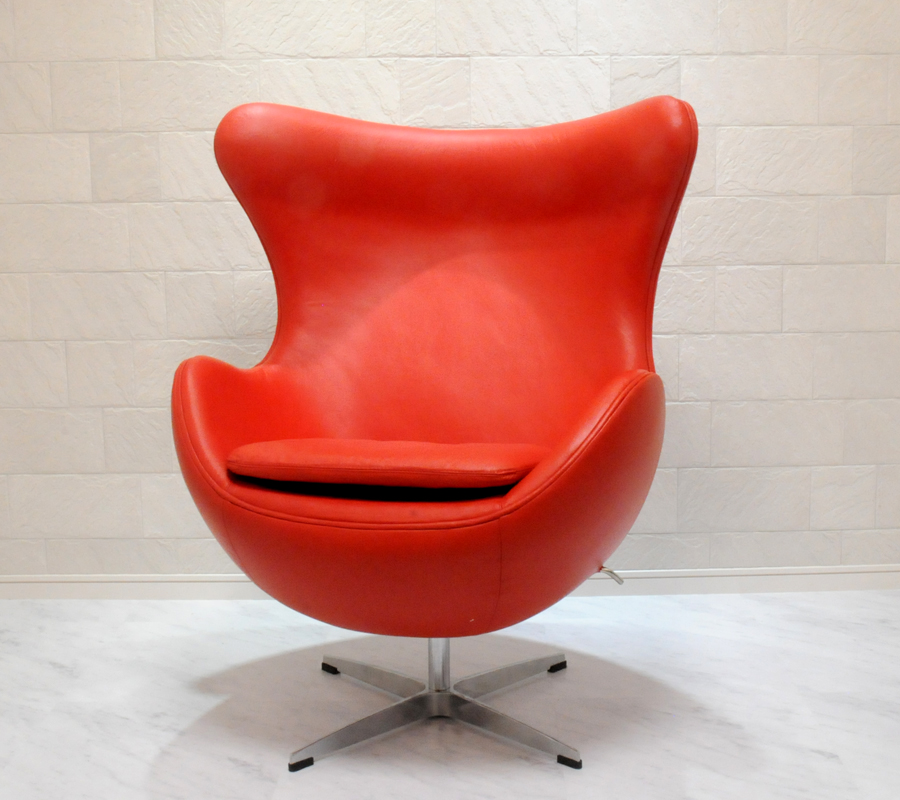 jacobsen egg chair leather cynthia rowley chairs auc pleasure0905 ibose cowhide specifications product information