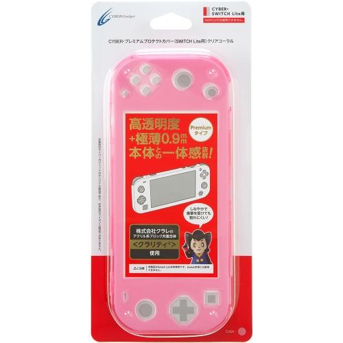 Nintendo Switch CYBER ・ プレミアムプロテクトカバー ( SWITCH Lite 用) クリア コーラル