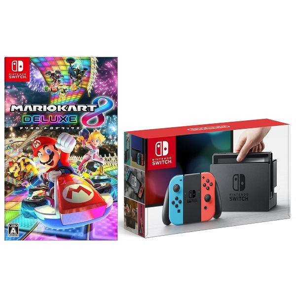 「Nintendo Switch Joy-Con(L) ネオンブルー/(R) ネオンレッド + マリオカート8 デラックス」を楽天で購入
