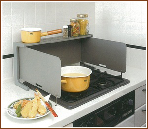 kitchen splash guard rustic hardware cooking clocca oil for around stove of convenient equipment レンジガード コンロガード