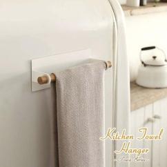 Kitchen Towels Burgundy Curtains Taorchanger 厨房毛巾衣架 手巾 湿巾 厨房毛巾晾衣架和厨房存储 北欧 Tosca 托斯卡 自然 毛巾 磁铁 木 厨房毛巾晾衣架和