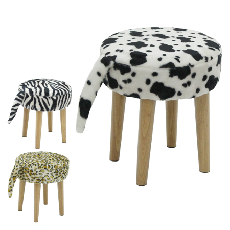 giraffe print chair brown dining chairs interior palette stool will zebra and leopard animal crossing without backrest rakuten global market